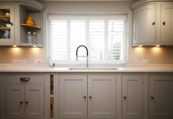 Grey Sink & Cupboards