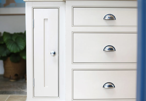 White Drawers Close Up